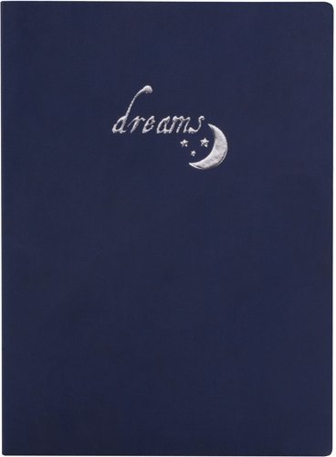 Dreams, embossed leather lined journal