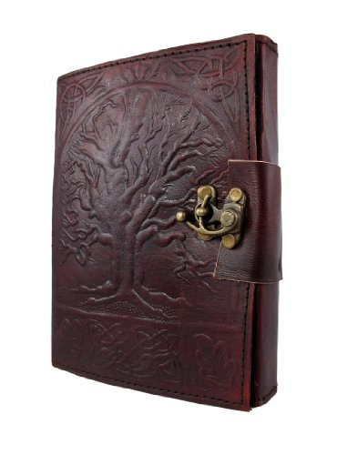 Leather Unlined Dream Journal Embossed with Celtic Tree of Life