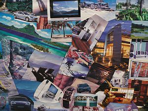 An example of how a cardboard Vision Board cou...
