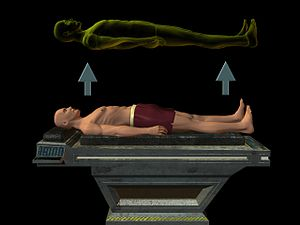 English: The astral leaves the body during sle...